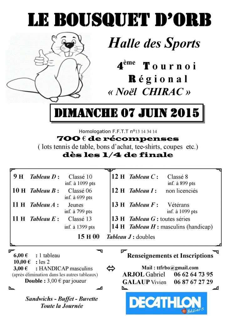 Affiche tournoi FRBO 2015
