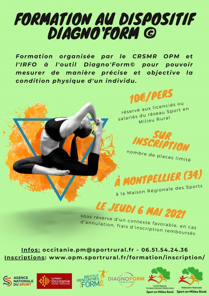Formation à l'outil DiagnoForm @ Maison Régionale des Sports à Montpellier